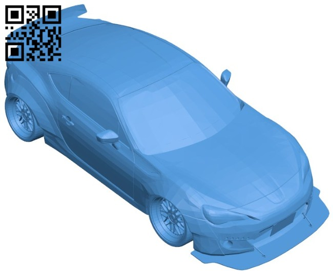 Toyota GT86 Car B006610 file stl free download 3D Model for CNC and 3d printer
