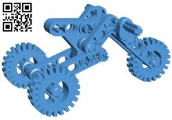 Tricycle – motorbike lego B006607 file stl free download 3D Model for CNC and 3d printer