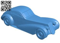 Truffade Z-Type Car B006597 file stl free download 3D Model for CNC and 3d printer