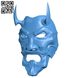 Uncle Oni – Devil mask B006574 file stl free download 3D Model for CNC and 3d printer