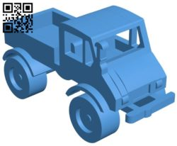 Unimog 406 simplified B006573 file stl free download 3D Model for CNC and 3d printer
