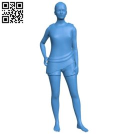 Usual woman B006567 file stl free download 3D Model for CNC and 3d printer