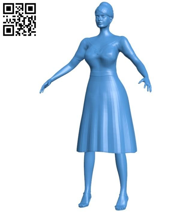 Vintage woman B006560 file stl free download 3D Model for CNC and 3d printer