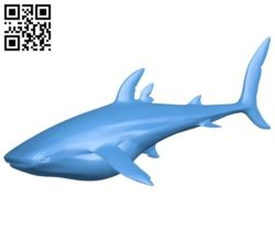 Whale shark B006544 file stl free download 3D Model for CNC and 3d printer