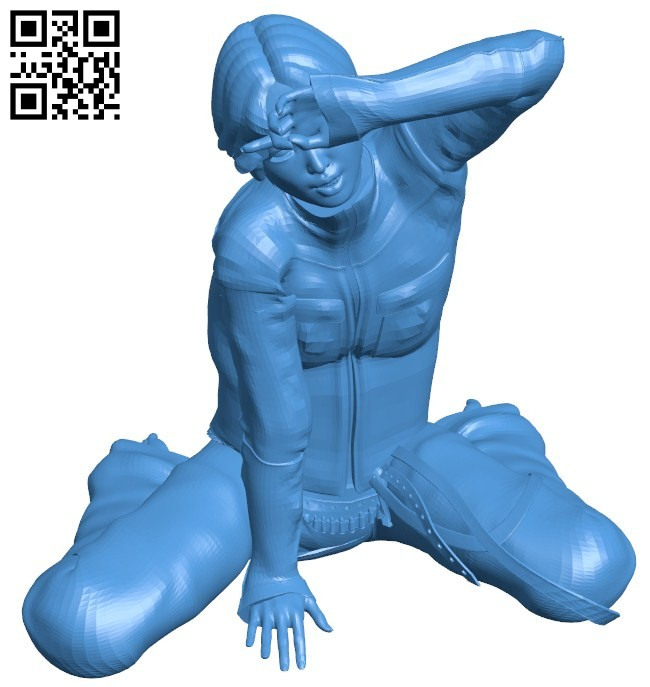 Wild west style girl B006523 file stl free download 3D Model for CNC and 3d printer