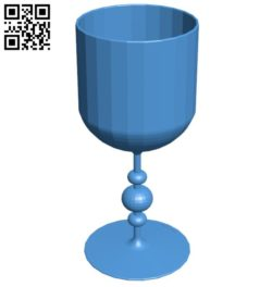 Wine glass B006519 file stl free download 3D Model for CNC and 3d printer