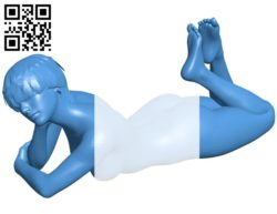 Women Naked dreamer B006465 file stl free download 3D Model for CNC and 3d printer