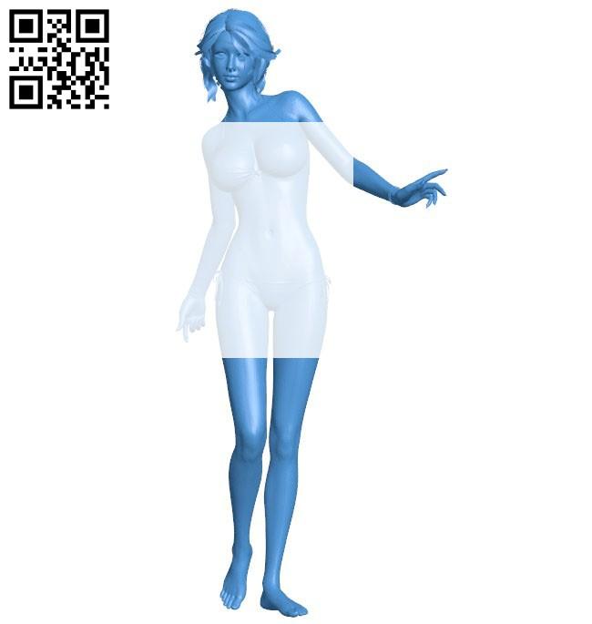 Women pretty B006464 file stl free download 3D Model for CNC and 3d printer
