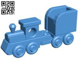 Wooden train B006502 file stl free download 3D Model for CNC and 3d printer