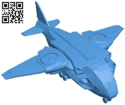 XCOM Skyranger ship B006498 file stl free download 3D Model for CNC and 3d printer