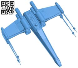 X-wing detailed ship B006497 file stl free download 3D Model for CNC and 3d printer