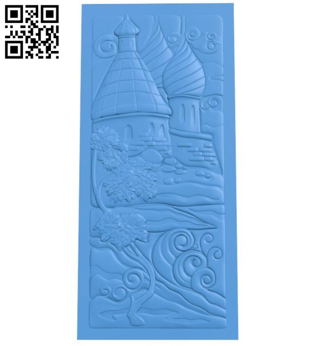A picture of a castle in the forest A004644 download free stl files 3d model for CNC wood carving