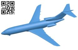 Aircraft Boeing B727-100 B006925 file stl free download 3D Model for CNC and 3d printer