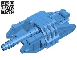 Alien Tank B006749 file stl free download 3D Model for CNC and 3d printer