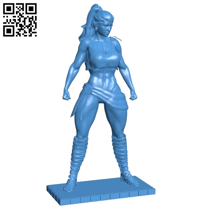 Amazon girl B006944 file stl free download 3D Model for CNC and 3d printer