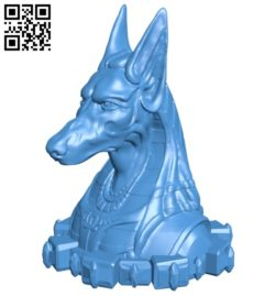 Anubis bust B007102 file stl free download 3D Model for CNC and 3d printer