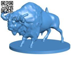 Auroch bull B006927 file stl free download 3D Model for CNC and 3d printer