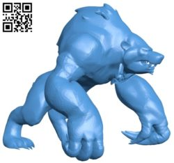 Bear B006968 file stl free download 3D Model for CNC and 3d printer