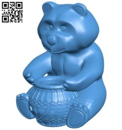 Bear and jar of honey B006879 file stl free download 3D Model for CNC and 3d printer