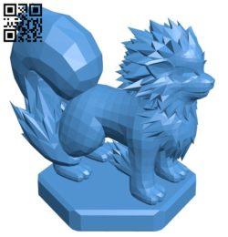 Bishop Arcanine – pokemon B006755 file stl free download 3D Model for CNC and 3d printer