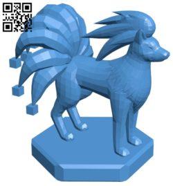Bishop Ninetales – pokemon B006757 file stl free download 3D Model for CNC and 3d printer