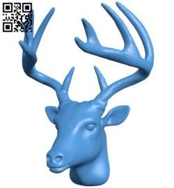 Buck deer head B006726 file stl free download 3D Model for CNC and 3d printer
