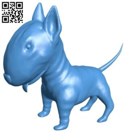 Bull Terrier dog B006816 file stl free download 3D Model for CNC and 3d printer