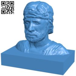 Bust statue man B007065 file stl free download 3D Model for CNC and 3d printer