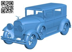 Cadillac car B006929 file stl free download 3D Model for CNC and 3d printer