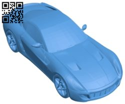 Car ferrari 599gtb B006838 file stl free download 3D Model for CNC and 3d printer