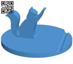 Cat holder – smartphone B006866 file stl free download 3D Model for CNC and 3d printer