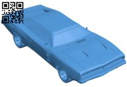 Charger 1969 car B006703 file stl free download 3D Model for CNC and 3d printer