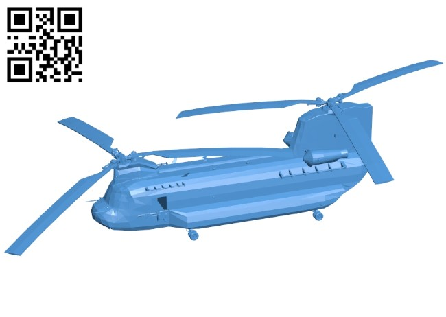 Chinook planes B006895 file stl free download 3D Model for CNC and 3d printer