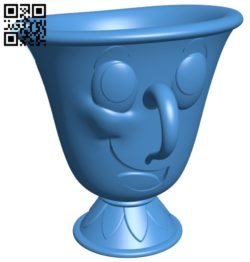 Chip broken cup B007013 file stl free download 3D Model for CNC and 3d printer