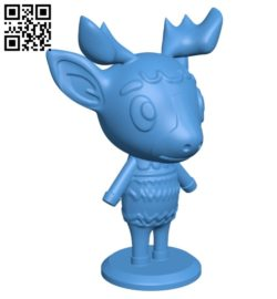 Christmas reindeer B007111 file stl free download 3D Model for CNC and 3d printer