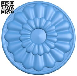Circular disk pattern A004584 download free stl files 3d model for CNC wood carving