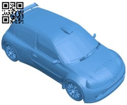 Clio rally car B006748 file stl free download 3D Model for CNC and 3d printer