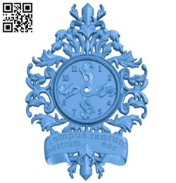 Clock watcher A004771 download free stl files 3d model for CNC wood carving