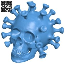 Covid skull B007044 file stl free download 3D Model for CNC and 3d printer
