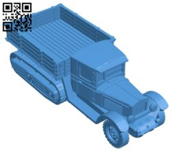 Crawler truck B006976 file stl free download 3D Model for CNC and 3d printer
