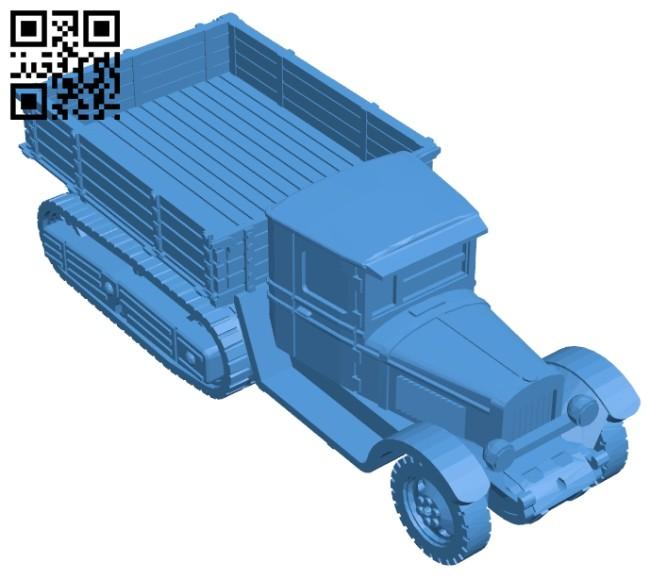 Crawler truck B006976 file stl free download 3D Model for CNC and 3d printer