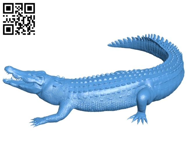 Crocodile B006901 file stl free download 3D Model for CNC and 3d printer