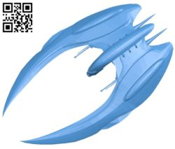 Cylon raider ship B006907 file stl free download 3D Model for CNC and 3d printer