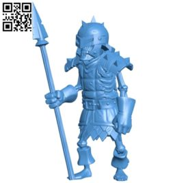Darkest spear man B007019 file stl free download 3D Model for CNC and 3d printer