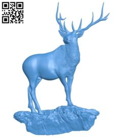 Deer A004596 download free stl files 3d model for CNC wood carving