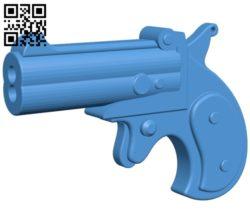 Derringer gun mini B006926 file stl free download 3D Model for CNC and 3d printer