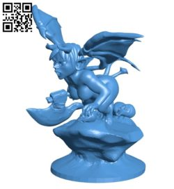 Devil woman B006998 file stl free download 3D Model for CNC and 3d printer
