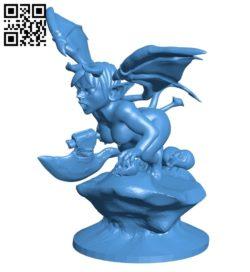 Devil woman B006998 file stl free download 3D Model for CNC and 3d printer