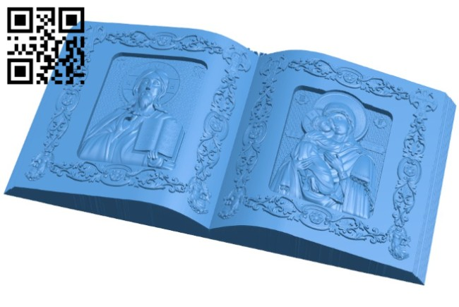 Diptych Book Icon A004624 download free stl files 3d model for CNC wood carving