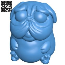 Doggy pop pug – dog B007045 file stl free download 3D Model for CNC and 3d printer